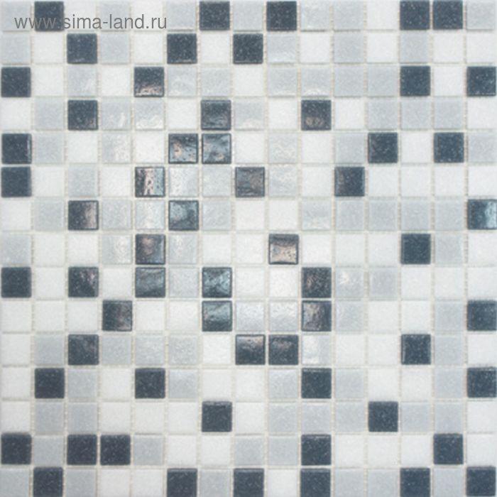 Mозаика стеклянная Elada Mosaic MDA233, серая, 327х327х4 мм