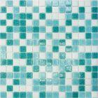 Mозаика стеклянная Elada Mosaic MDA433, бирюзовая, 327х327х4 мм