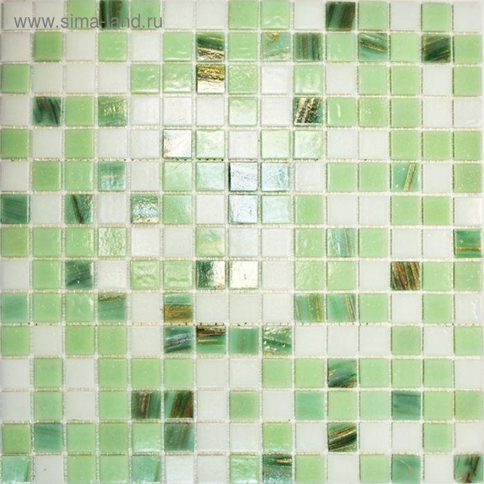 Mозаика стеклянная Elada Mosaic HK-17, зелёная, 327х327х4 мм