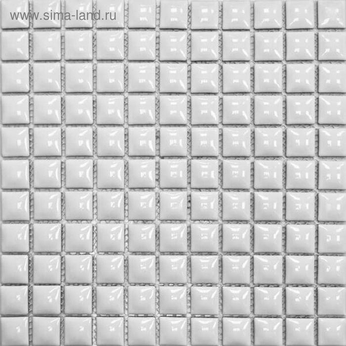 Mозаика керамическая Elada Mosaic 25TG-01, белая, 300х300х9 мм