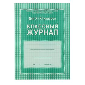 Классный журнал для 10-11 классов А4, 184 страницы, твердая ламинированная обложка, блок офсет 65г/м2
