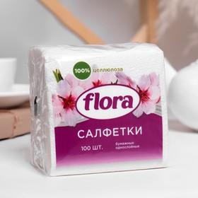 Салфетки, белые, 24 × 24, 100 листов