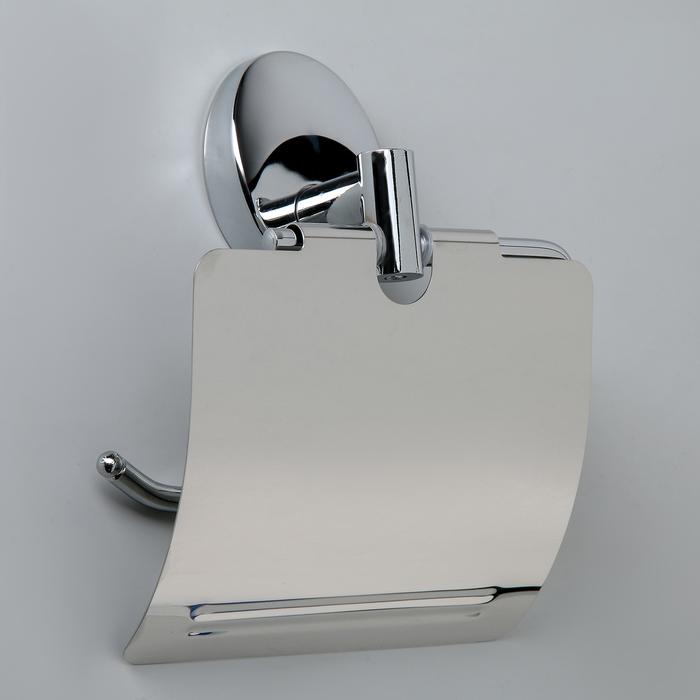 Держатель для туалетной бумаги Accoona А11005, с крышкой, хром