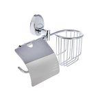 Держатель для туалетной бумаги Accoona A11005-1, отсек под дезодорант, хром