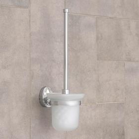 Ёрш для унитаза с подставкой настенный Accoona, 12×14×37,5 см, цвет хром