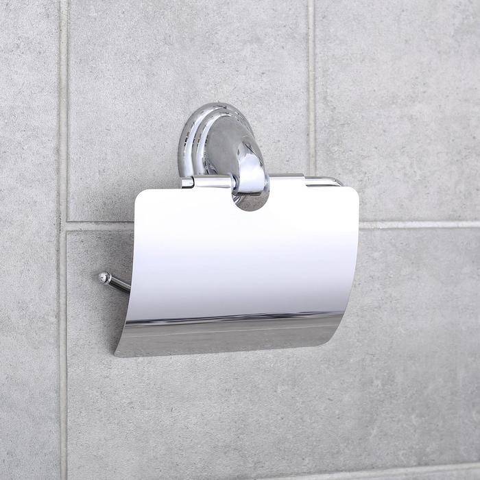 """Держатель для туалетной бумаги с крышкой """"Accoona A11105"""", цвет хром"""