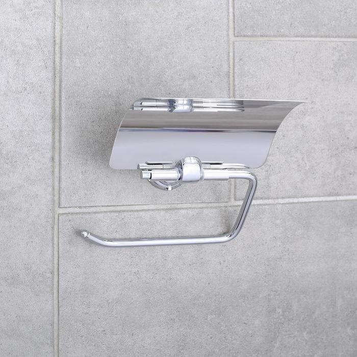 Держатель для туалетной бумаги Accoona A11105, с крышкой, хром