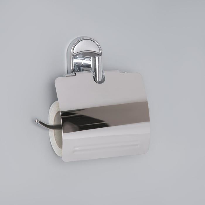 """Держатель для туалетной бумаги с крышкой """"Accoona A11205"""", цвет хром"""