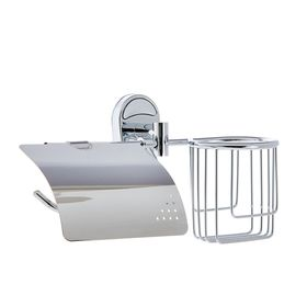 """Держатель для туалетной бумаги, отсек под дезодорант """"Accoona A11205-1"""", цвет хром"""