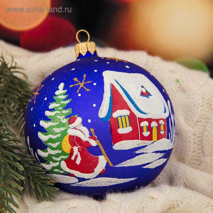 """Новогодний шар ручной работы """"Зимний гость"""" микс"""