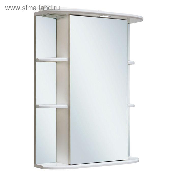 Шкаф зеркальный навесной Гиро 55, правый, красный, Руно 449554