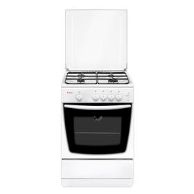Плита Gefest 1200-С6, газовая, 4 конфорки, 63 л, газовая духовка, белая