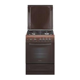 Плита газовая Gefest 6100-03 0001, 4 конфорки, 52 л, газовая духовка, коричневая
