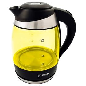 Чайник электрический Starwind SKG2215, 2200 Вт, 1.8 л, стекло, желтый