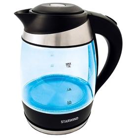 Чайник электрический Starwind SKG2219, 2200 Вт, 1.8 л, стекло, бирюзовый