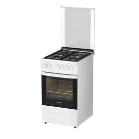 Плита Darina 1 D1 KM 241 311 W, газовая, 4 конфорки, 50 л, электрическая духовка, белая