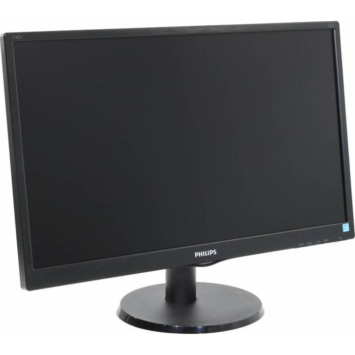 """Монитор Philips 23.8"""" 240V5QDSB (00/01), черный"""