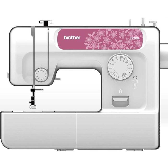 Швейная машина Brother LS-200, 14 операций, потайная, эластичная строчка, белый