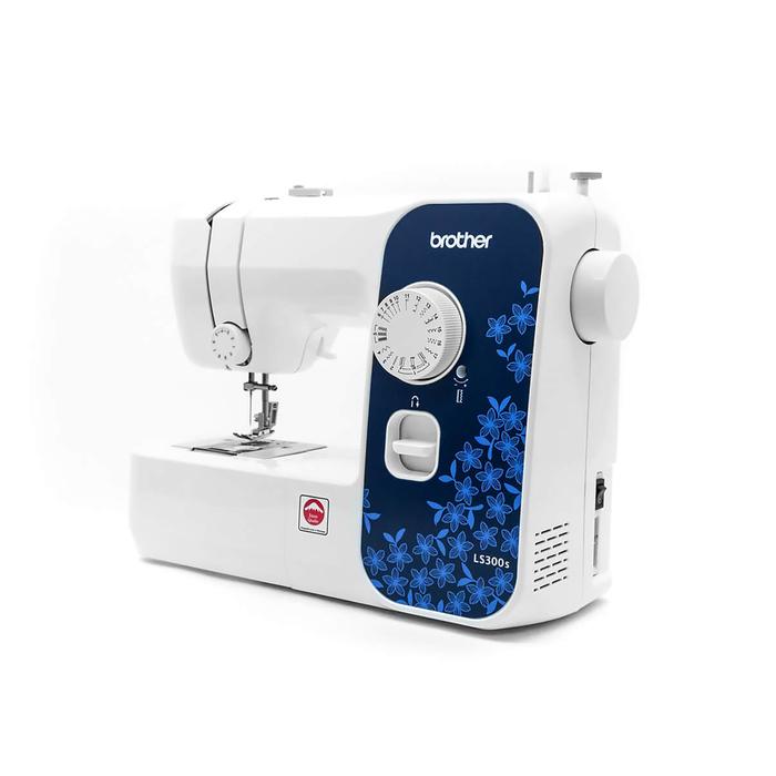 Швейная машина Brother LS-300S, 17 операций, эластичная, эластичная потайная строчка, белый
