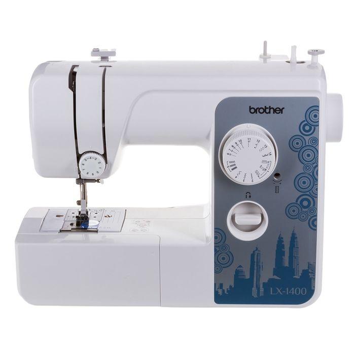 Швейная машина Brother LX-1400, 14 операций, обметочная, потайная, эластичная строчка, белый