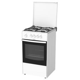 Плита Darina 1A GM 441 002 W, газовая, 4 конфорки, 50 л, газовая духовка, белая