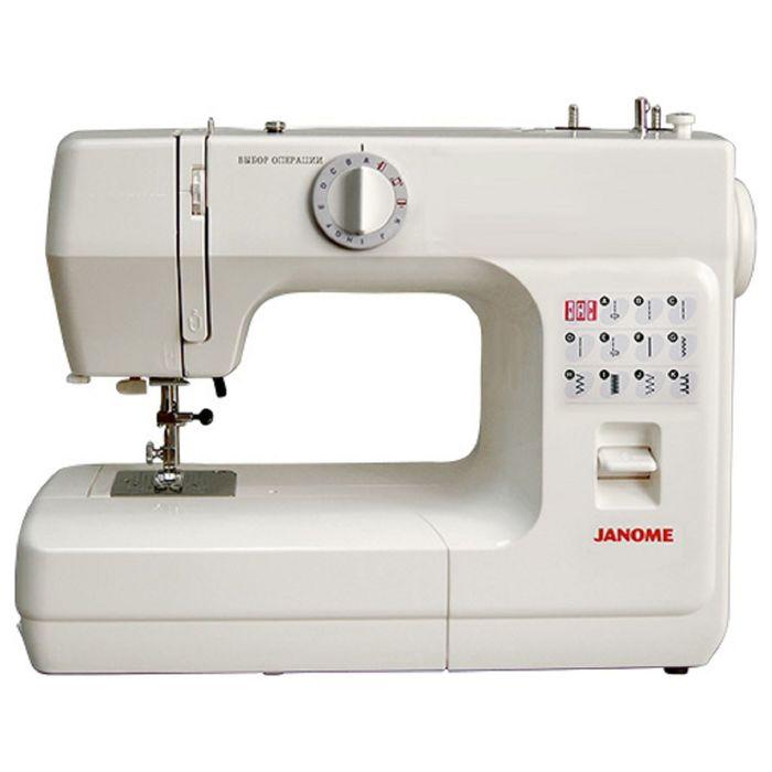 Швейная машина Janome 2004, 7 операций, обметочная, потайная, эластичная строчка, белый