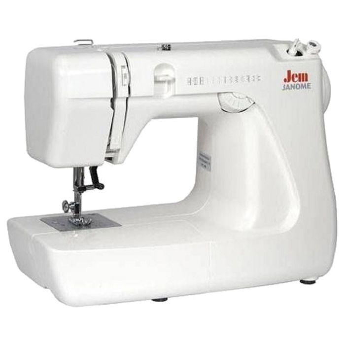 Швейная машина Janome Jem, 11 операций, потайная, эластичная строчка, белый