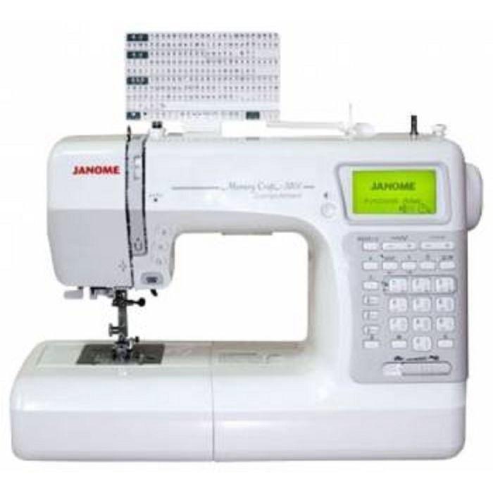 Швейная машина Janome Memory Craft 5200 HC, 561 операций, обметочная, потайная, эласт строчка