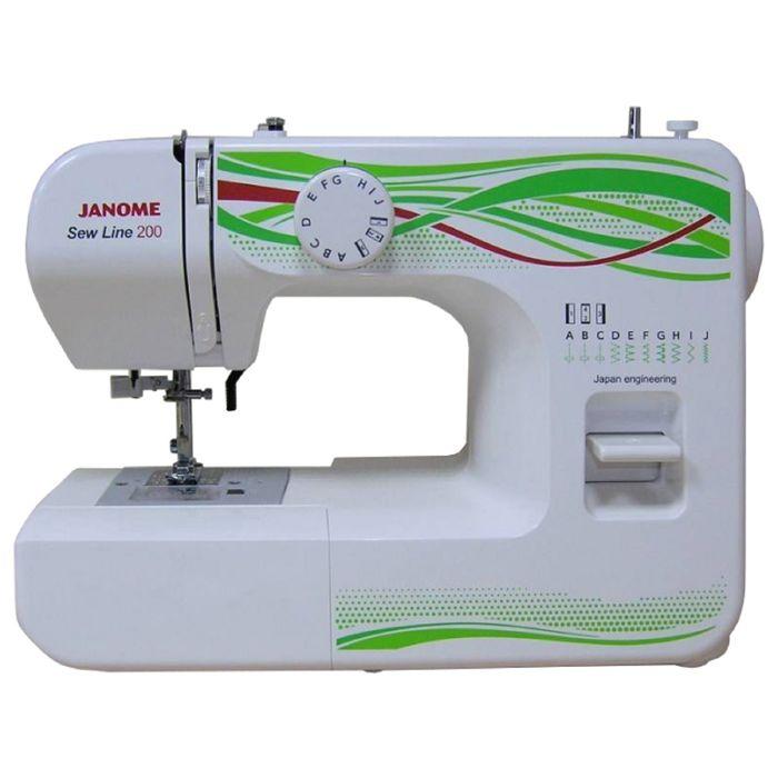 Швейная машина Janome Sew Line 200, 9 операций, потайная, эластичная строчка, белый