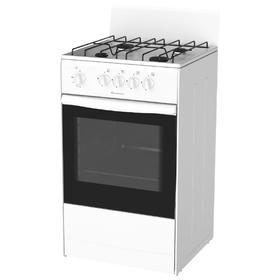 Плита Darina S4 GM 441 101 W, газовая, 4 конфорки, 50 л, газовая духовка, белая