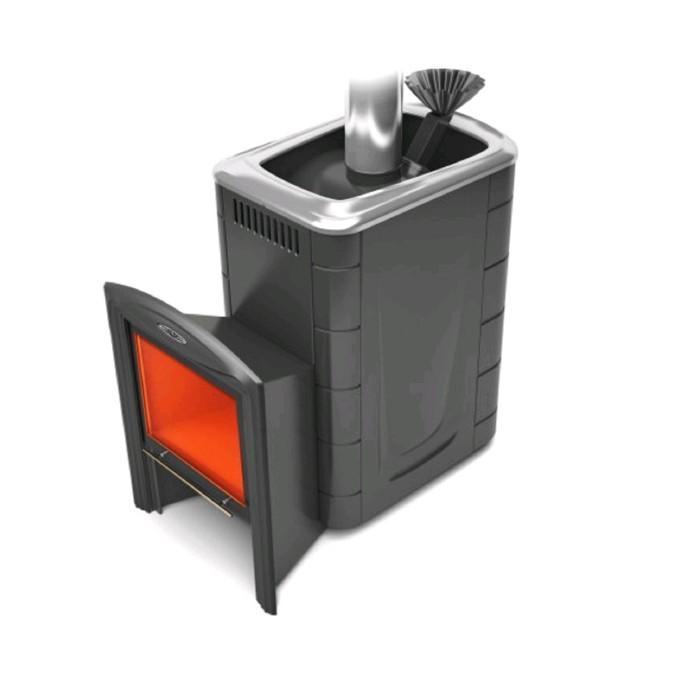 Печь банная Термофор Гейзер 2014 сarbon витра ЗК антрацит