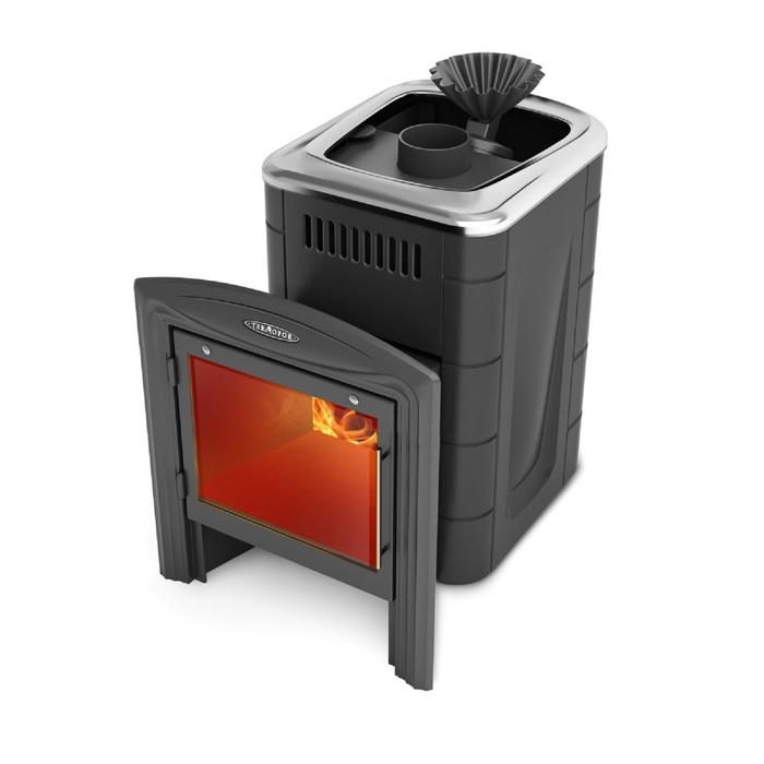 Печь банная Термофор Гейзер Мини 2016 Carbon Витра ЗК антрацит