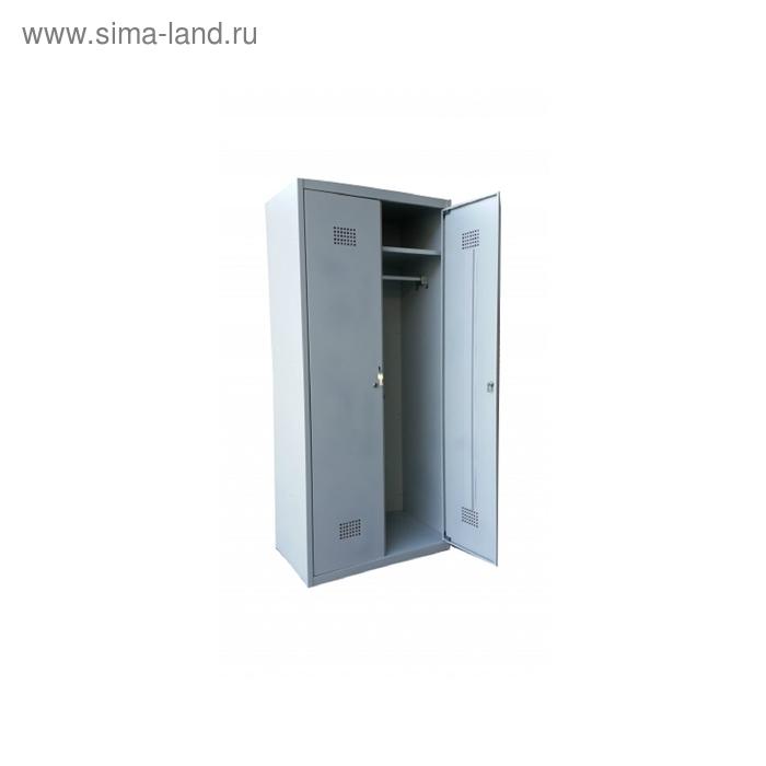 Сейф гардеробный ШГС 1850/800 (двухсекционный, полки, перекладины, металл 0,7)