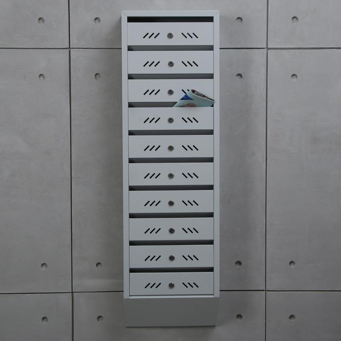 Ящик почтовый, 10 секций, с замком и ключами ЯПП-10
