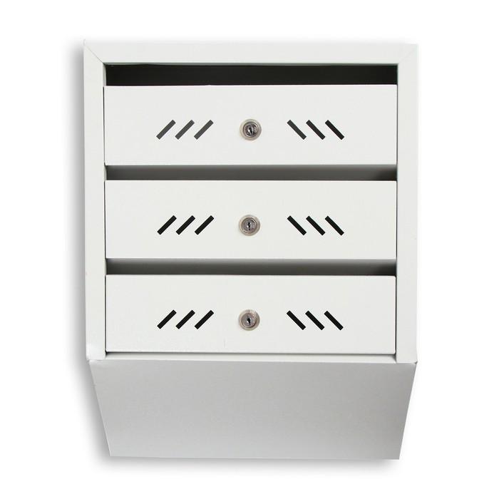 Ящик почтовый, 3 секции, с замком и ключами, ЯПн-3