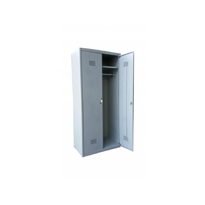 Сейф гардеробный ШГС-1800/800 (двухсекционный, полки, перекладины, металл 0,5)