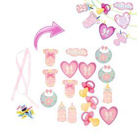Гирлянда на ленте 'Пожелания будущей мамочке', розовая Ош