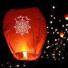 """Небесный фонарик """"С Новым Годом!"""", снежинка"""