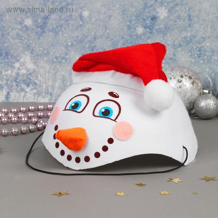 """Карнавальная шляпа """"Снеговик с носом"""""""