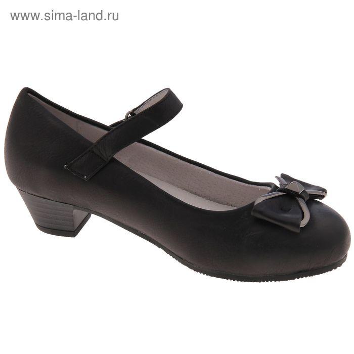 Туфли школьные, размер 37, цвет чёрный (арт. SC-21602)