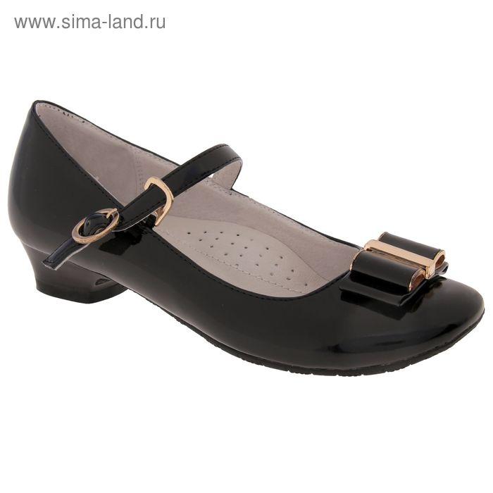 Туфли школьные, размер 33, цвет чёрный (арт. SC-21804)