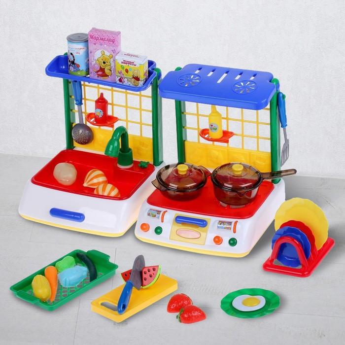 """Кухня детская """"Винни и его друзья"""", высота 28 см, свет, звук, МИКС"""