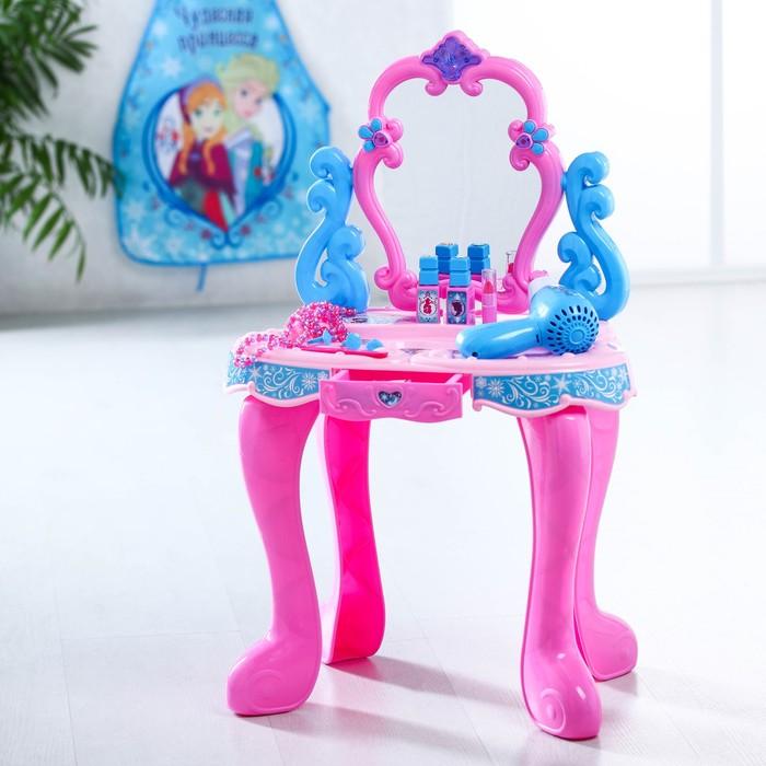 """Столик с зеркалом, """"Холодное сердце"""", свет, звук,14 пред. Высота 60 см - фото 105581137"""