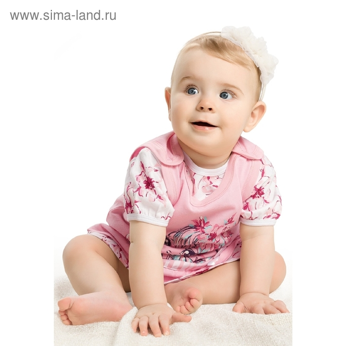 Комплект детский, 9-12 месяцев, цвет розовый, SATD424