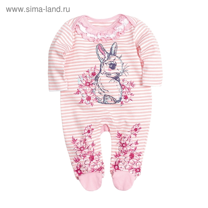 Комбинезон детский, 9-12 месяцев, цвет белый, SRJ424