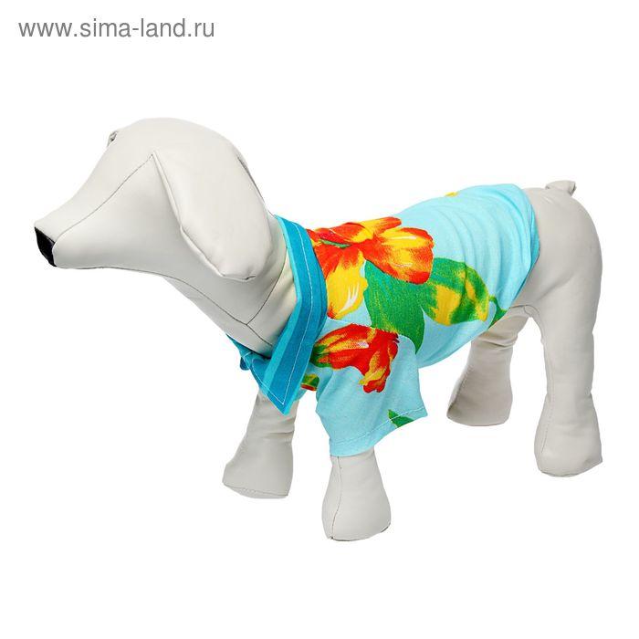 Рубашка гавайская, размер M  микс цветов