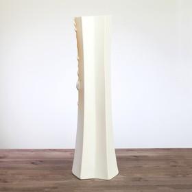 """Ваза напольная """"Айсберг"""" бело-золотистая, 64 см, микс - фото 1703616"""