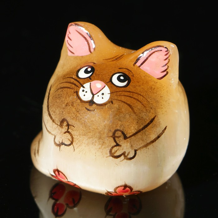 Сувенир «Котёнок Кеша», 3×3,5 см, селенит