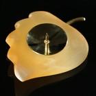 Подсвечник «Листок с чашкой», 10×8×2.5 см, селенит