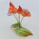 Сувенир «Букет», с росписью, 5 цветков, селенит